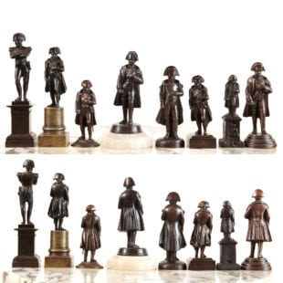 Collection of 8 bronze statues of Napoleon