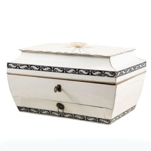 Anglo-Indian Vizagapatam Ivory and Sandalwood Casket