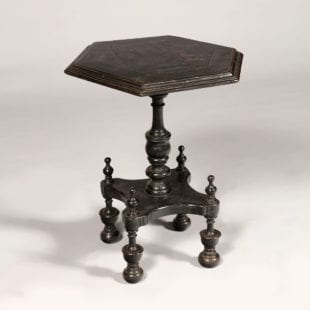 Unusual Indian Ebony Occasional Table