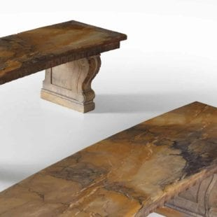 Sienna Marble Benches