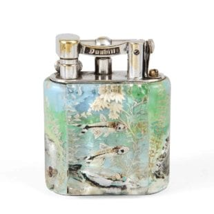 DUNHILL AQUARIUM TABLE LIGHTER VINTAGE 1950'S SMALL OR SERVICE SIZE VERY RARE