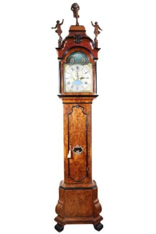 Pietre and Jan Morjin Dutch longcase clock Amsterdam Walnut Longcase Clock