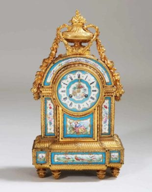 19th Century Sevres Porcelain and Ormolu Mantel Clock