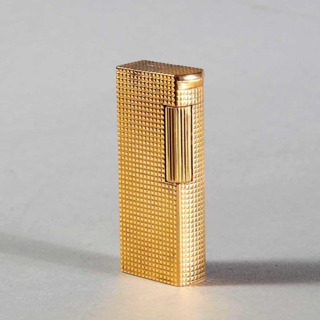 Very Rare Al Dunhill Solid 18k Gold Rollagas Lighter