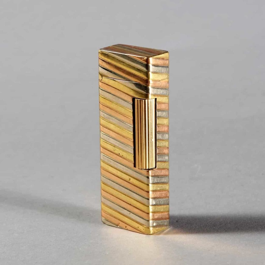 Three tone Gold Outer JAcket Dunhill Rollagas Lighter