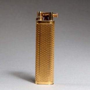 Dunhill Gold Engine Turned Sylph Lighter - Boxed