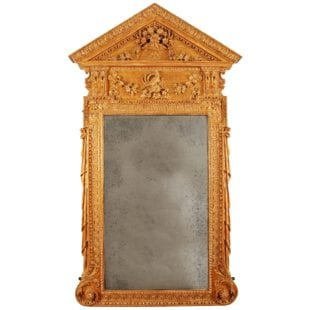 Early 18th Century Kentian Giltwood Pier Mirror