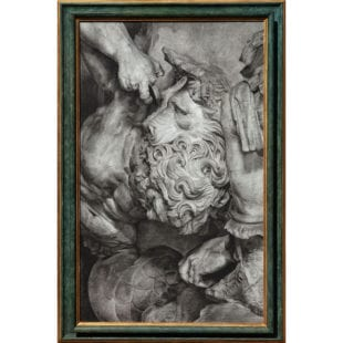 Charcoal on Board classical Vignette of Carved Marble Elements
