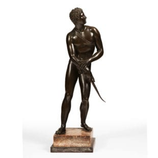 19th century Bronze of a Gladiator