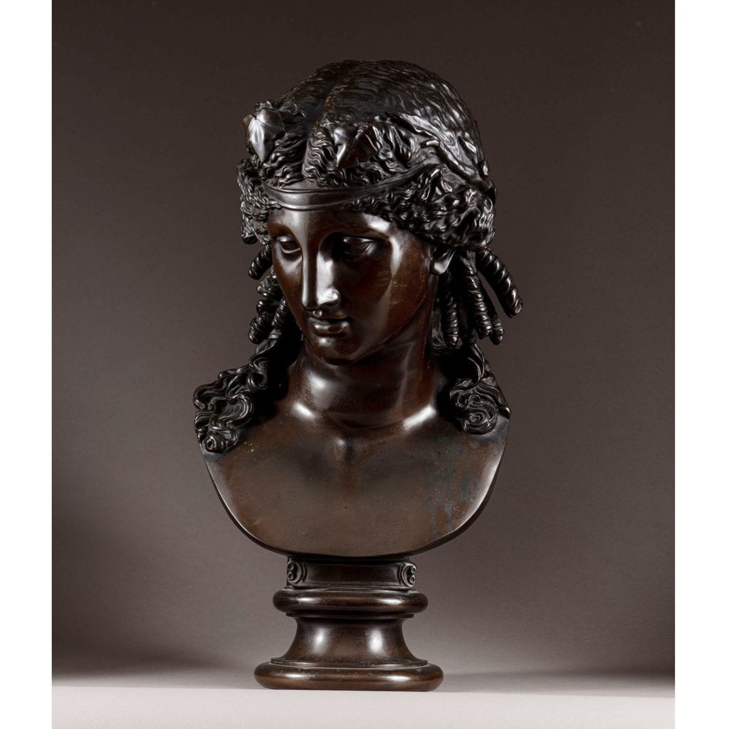 Late 19th Century Bronze Bust of Ariadne ||| F Barbedienne