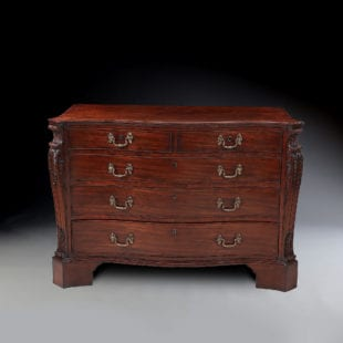 AN IMPORTANT GEORGE III MAHOGANY COMMODE