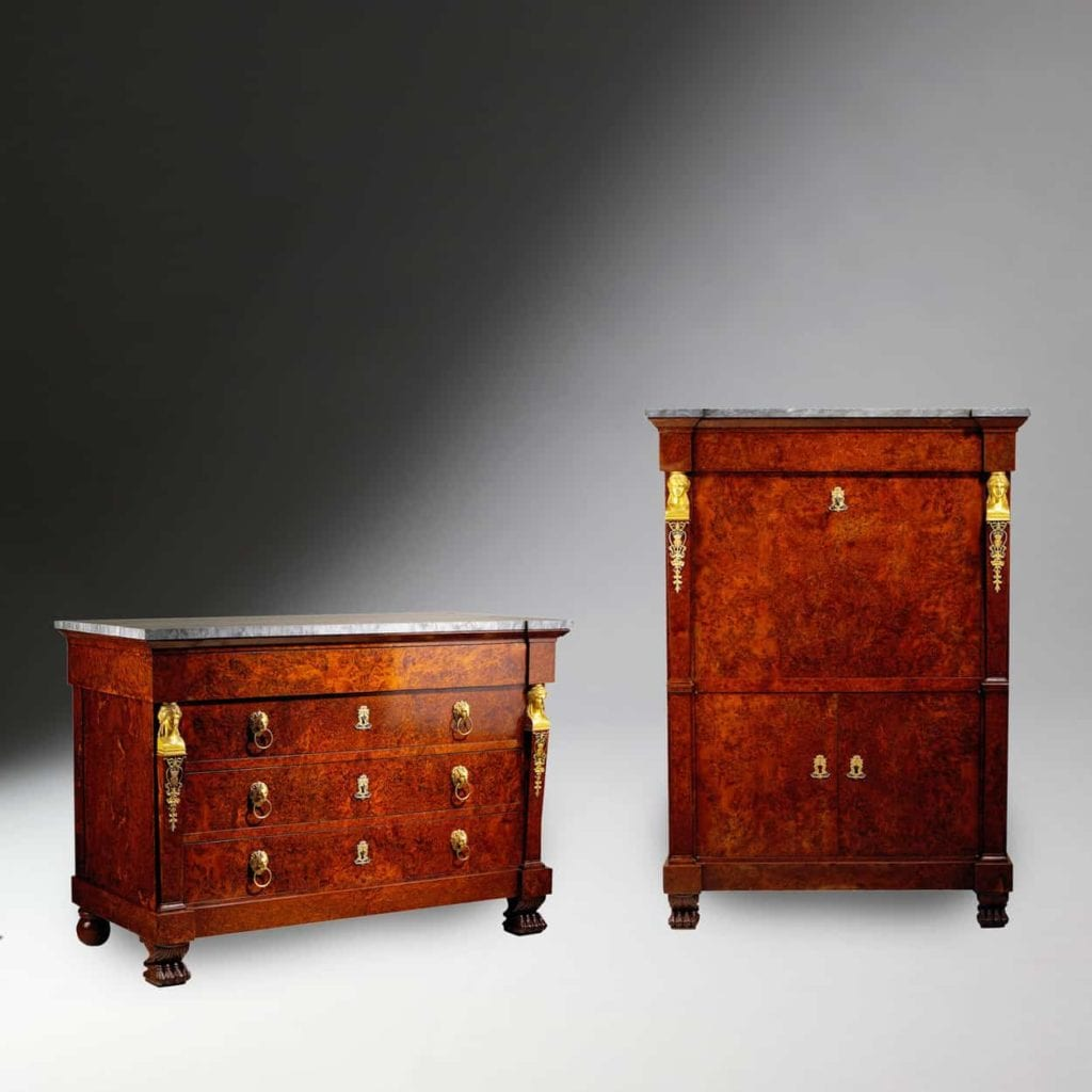 Empire Commode and Secretaire Abatant