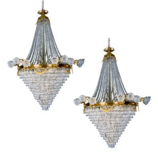 Pair of Large late 19th Century French Chandeliers
