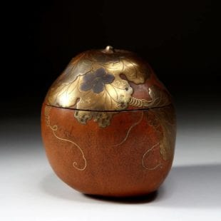 Japanese Gourd Caddy - Antique Meiji Period