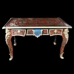Red Tortoiseshell Boulle Desk