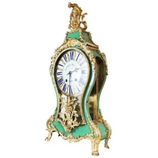 18TH CENTURY LOUIS XV BRACKET CARTEL CLOCK BY CHARLES VOISIN, PARIS