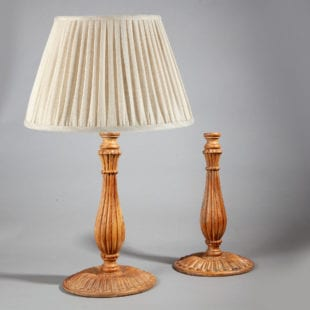 Pair of Large Mughal Style Candlestick Table Lamps