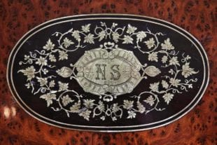 Paul Sormani - Inlaid Brass Work with engraved monogram NS