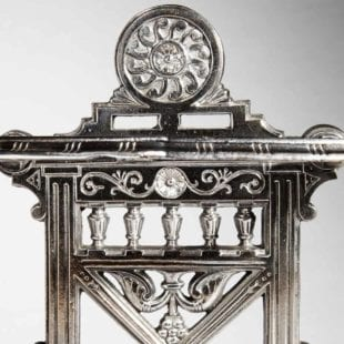 Detail of Arts and Crafts Cast Iron Stick Stand