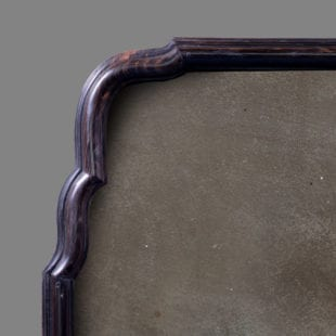 Pair of Queen Anne Style Solid Ebony Pier Mirrors