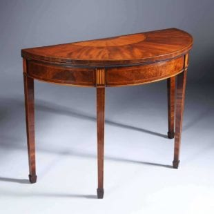 A George III demi-lune card table