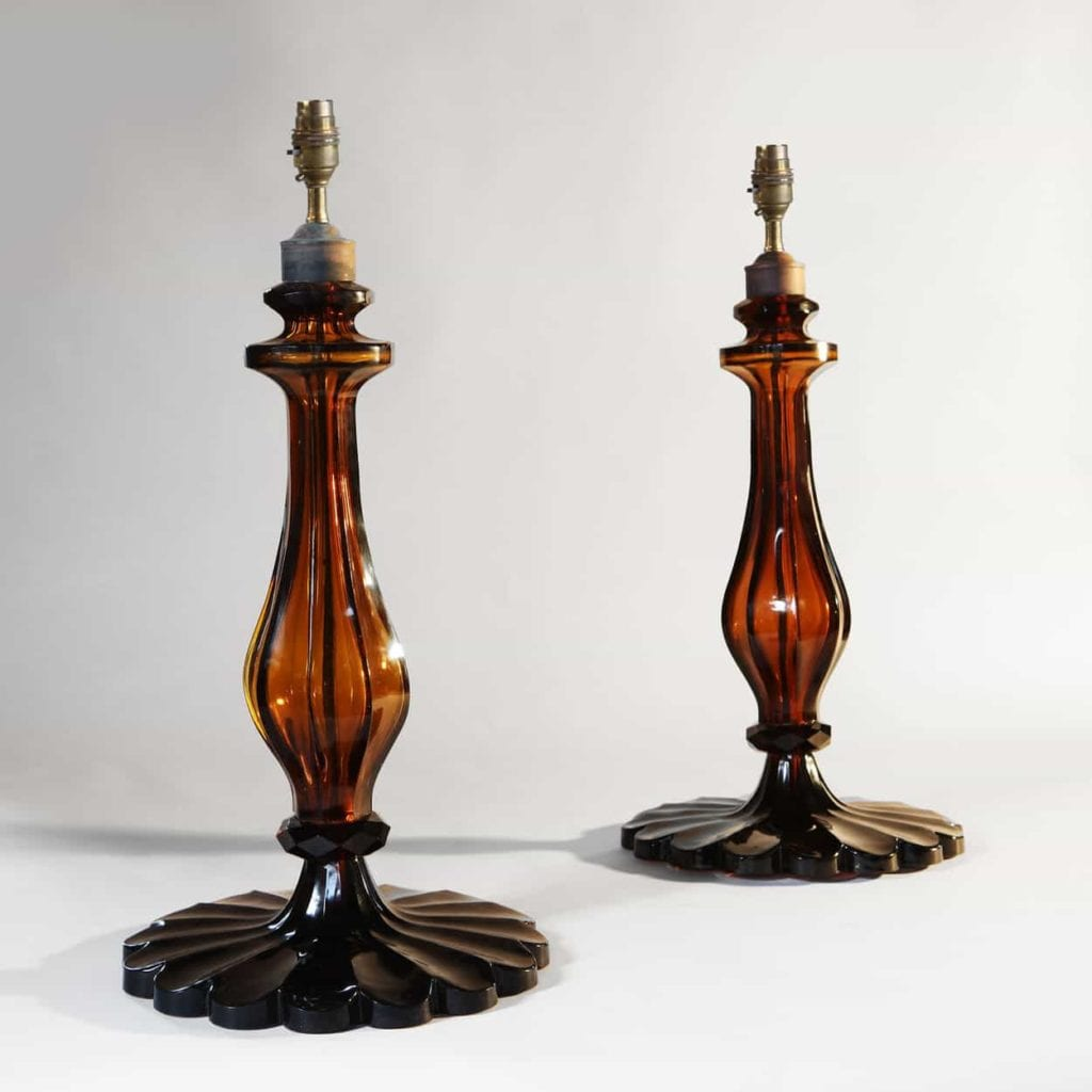 Amber Glass Table lamps - London