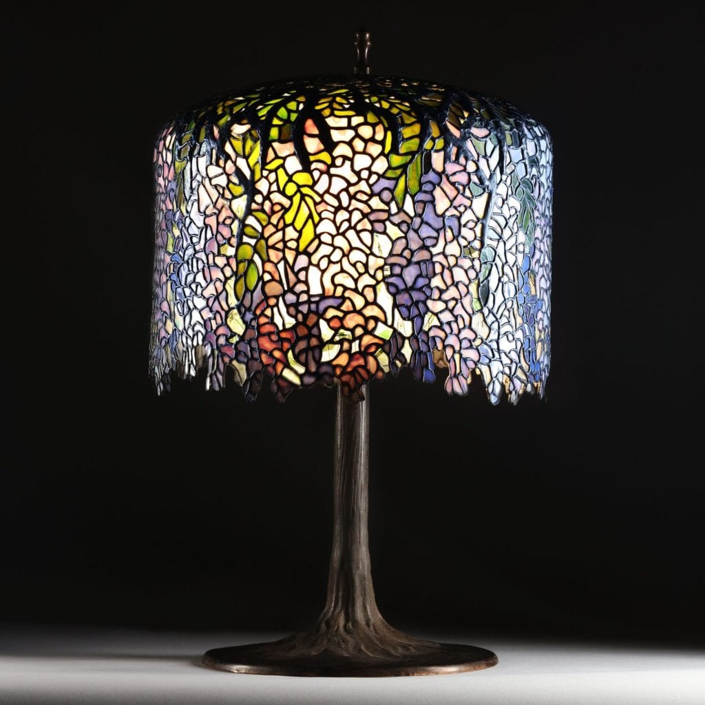 Vintage Wisteria Large Tiffany Table Lamp - Shop in London