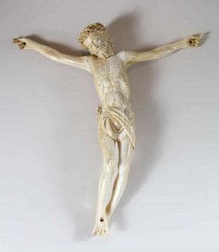 Large Ivory Devotional Model of Christ - Spanish Colonial