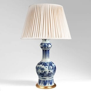 17th century Delft blue and white lamp