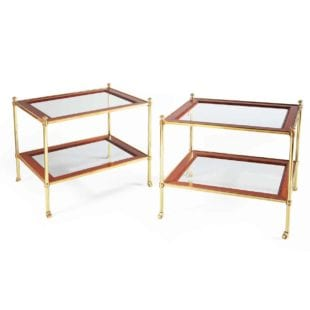 Mallett Two Tier Etagere End Tables