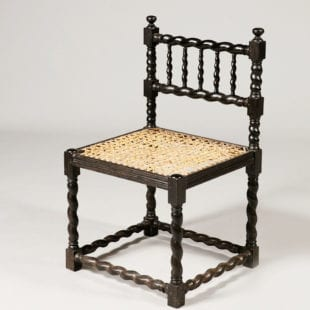 Anglo Indian Ebony Side Chair