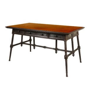 Solid Ebony Aesthetic Movement Writing Table