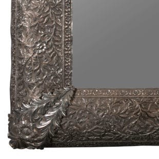 Antique Indian Mirror - Solid Silver