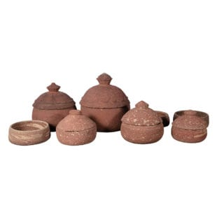 Carved Indian Antique Sandstone Bowls