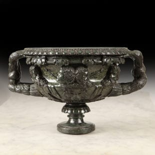 19th century Carved Serpentine Warwick Vase