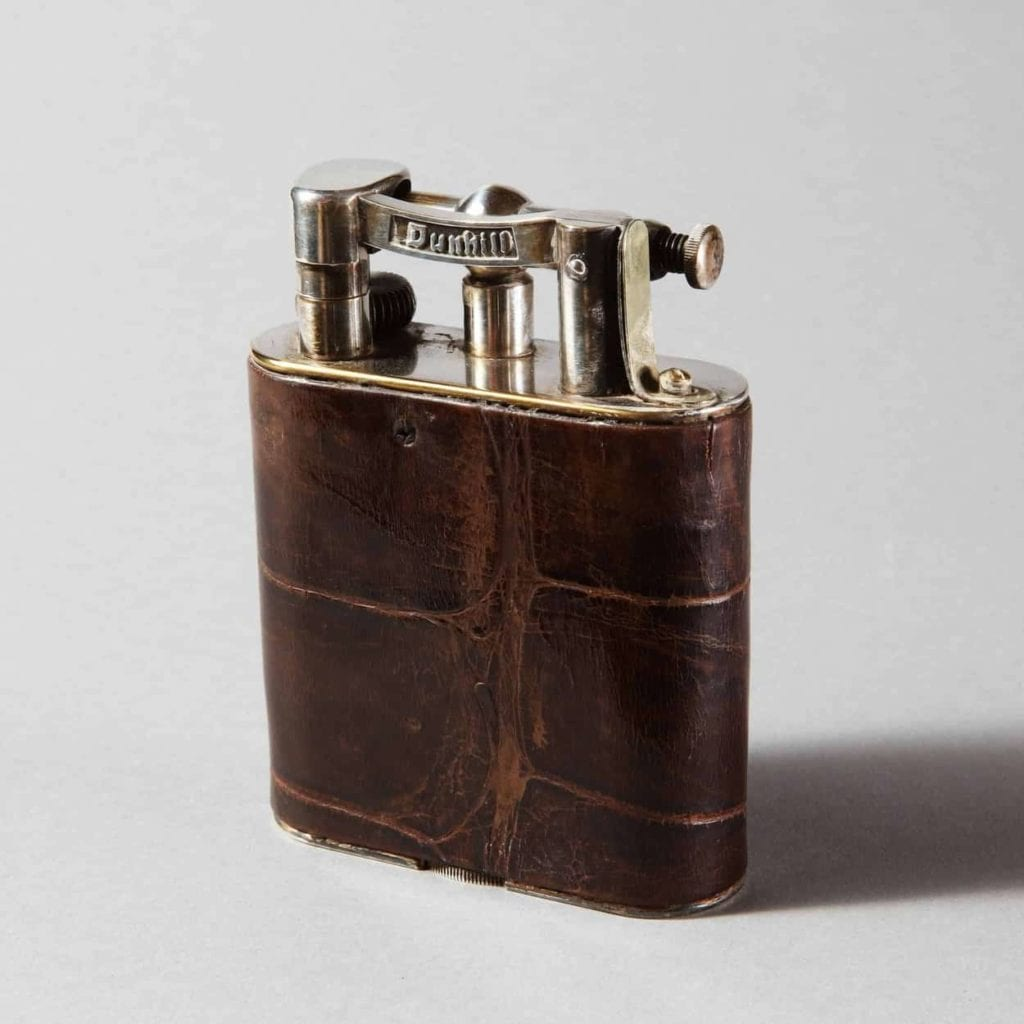 Dunhill Giant Crocodile Leather Table Lighter 0W2A9553