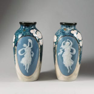 Camille Tharaud Pair of Limoges Porcelain Art Deco Vases