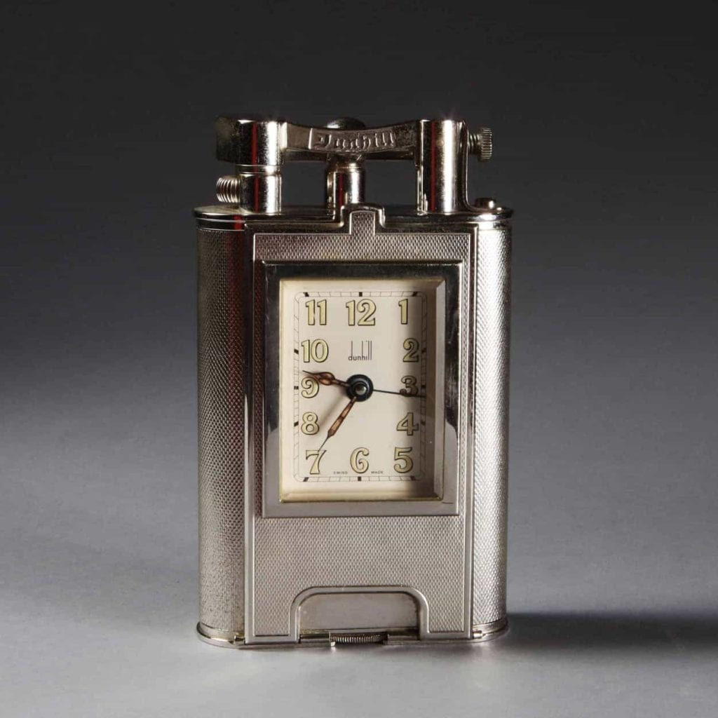 Charleston Limited Edition Giant Dunhill Table Lighter with Clock