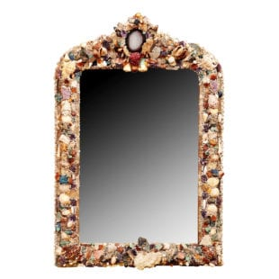 Ornamental Shellwork Mirror