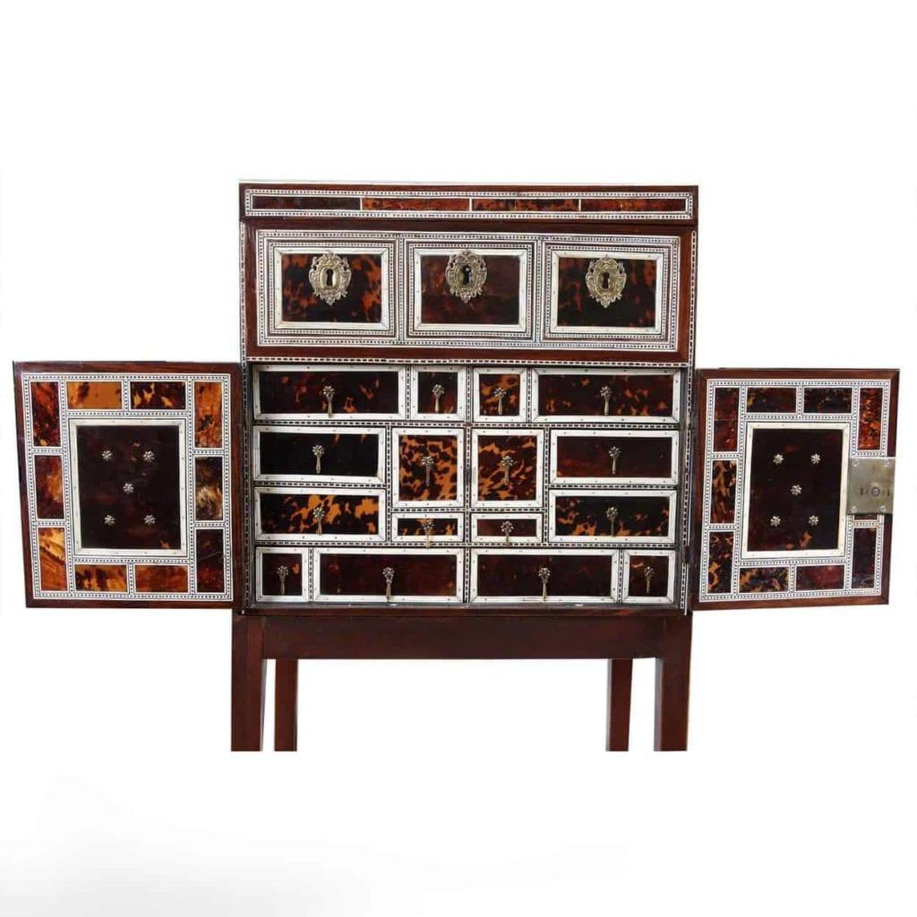 Indo Portuguese Table Cabinet of Sixteen Drawers - (1600 to 1700 Gujarat or Sind in Mughal India)