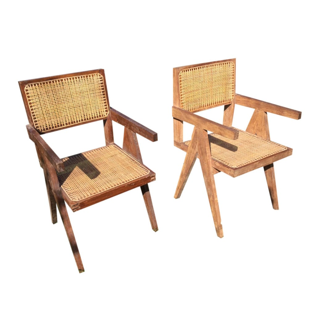 Pair of Chandigarh Easy Chairs By Jeanneret