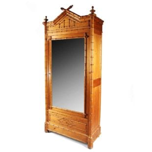 French faux bamboo Armoire By Chaillet A Paris