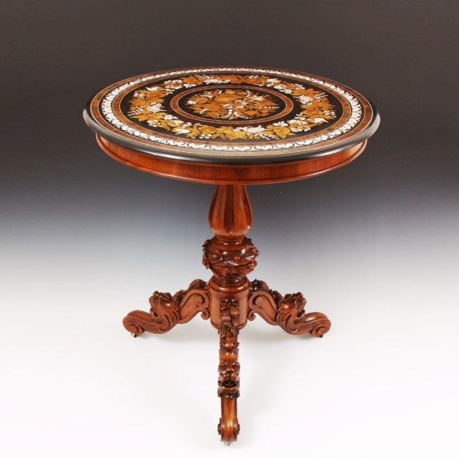 Marquetry Centre Table Attributed To The Falcini Brothers 1