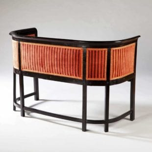 Matched pair of ebonised Viennese settees by Kohn / Josef Hoffmann