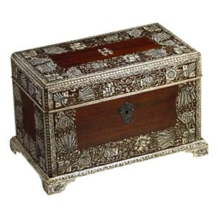 Anglo Indian Tea Caddy ||| Padouk and Ivory