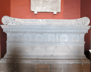 giallo antico marble inkwell of the of sarcophagus of Scipio