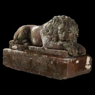 Canova Awake Lion - Sandstone Antique