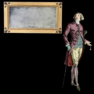 Regency parcel gilt mechanical patent overmantel mirror Freeman, carver, gilder, and looking glass manufacturer of London and Swan Lane, Norwich