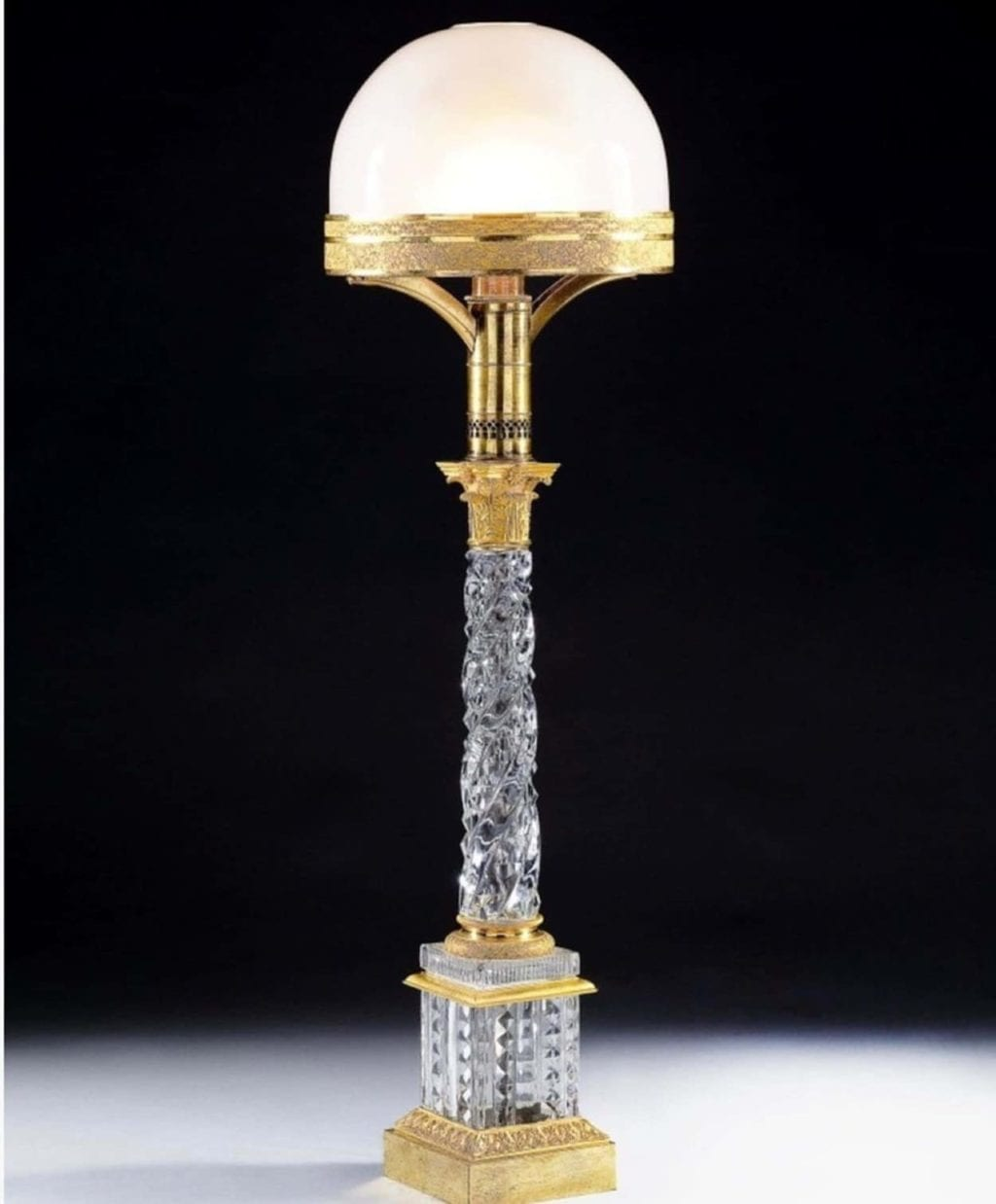 Incredible Baccarat Glass Antique Table Lamp