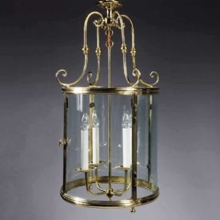 Large Scale Circular Brass Lantern